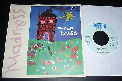 """7"""" MADNESS-Our House b/w Mr Wheeze-GERMANY Import-Stiff-2 Tone-Two Tone"""