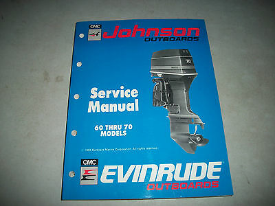 1990 Evinrude/johnson Outboards 60 Thru 70 Models Service Manual Excellent