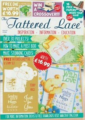 Tattered Lace Magazine - Issue 37 - FREE Teddy Bear Die + Stamps + Papers