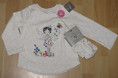 BNWT Girls  NEXT 4-5 YEARS (up to110cm) Fairy Top And Tight Set