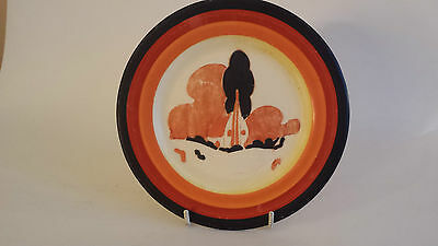 Rare Original Hand painted Clarice Cliff Bizarre 'Farmhouse' Plate Newport