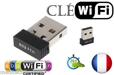 Sans Fil Dongle Réseau Wireless Cle WiFi Mini USB AdaptateuR 150Mbps 802.11n/g/b