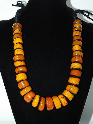 African Atlas Mountains Berber Resin Beads Necklace, Morocco