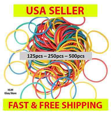 125 - 500 PCS SMALL HAIR BRAID RUBBER BANDS MULTI COLOR MIXED PONYTAIL No Black