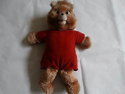 Vintage 1985 Worlds of Wonder Teddy Ruxpin Plush Doll Bear For Parts or Repair