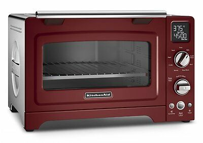 KitchenAid KCO275GC Convection 1800-watt Digital Countertop Oven, 12-Inch, Red