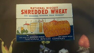 Vintage 1973 NABISCO Metal Shredded Wheat Recipe Box Tin National Biscuit Promo
