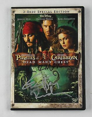 Geoffrey Rush & Kevin McNally Pirates Disney Authentic Autographed DVD Cover COA