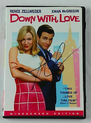 Renee Zellweger Down with Love Signed Autographed DVD Cover COA