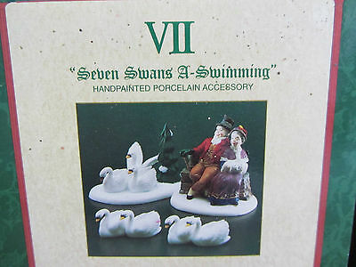 Dept 56 SEVEN SWANS A SWIMMING - Twelve Days of Dickens  #58383 (916)