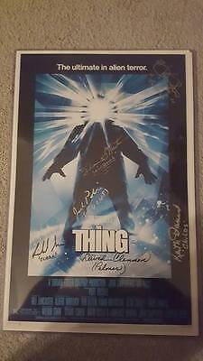 The Thing Cast X6 signed poster 11X17