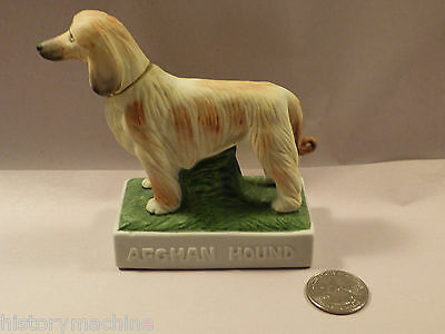 Afghan Hound Miniature Collector's Art Whiskey Bottle 1970's Le Vintage Decanter