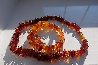 Natural Baltic Amber Necklace and Bracelet Set