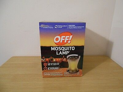New Off Mosquito Lamp Refillable Repellent Candle Outdoor Backyard Camping