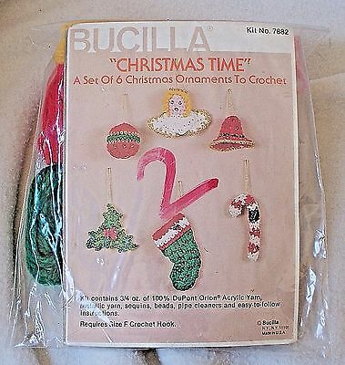 Bucilla Ornaments Crochet Kit Christmas Time - Makes set of 6 ornaments