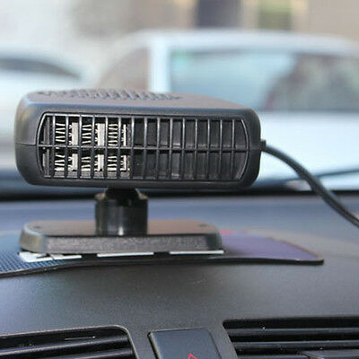 12V Car Winter heaters--Black 2in1 Heating and cooling fan Front window defogger