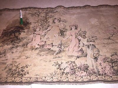 Vintage  Tapestry Wall Hanging Shabby Chic