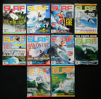 Transworld Surf Magazine 2007 Used Lot Of 10 Issues Vol.9  Surfer Surfing