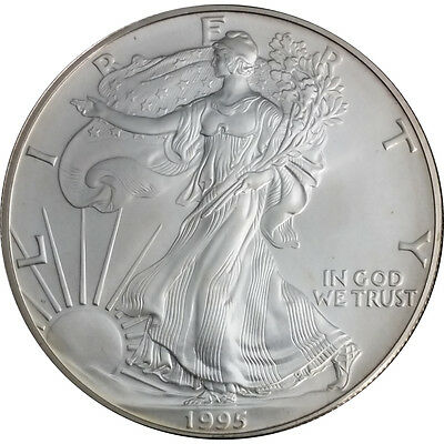 1995 1 oz American Silver Eagle – Brilliant Uncirculated – SKU #1389