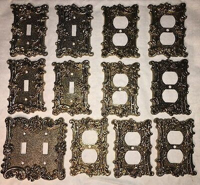 Vintage 1967 American Tack Switch Plates Lot - Rose Pattern 60T 60D 60TT
