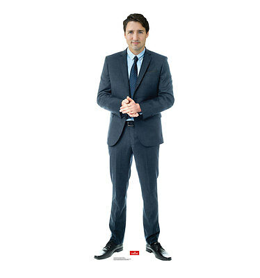 Justin Trudeau Canada Prime Minister Lifesize Cardboard Standup Standee Cutout
