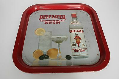 Vintage Retro Beefeater London Distilled Dry Gin Serving Tray Lot 2