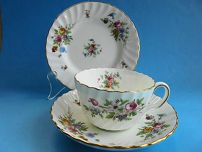 Minton Marlow Trio Tea Cup Saucer And Plate Pristine Like New