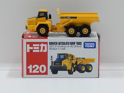 1:144 Komatsu Articulated Dump Truck (Yellow) - Made in Vietnam Tomica 120
