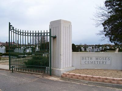 Beth Moses Cemetery 3 Plot Package for Sale $10,500. Below market value