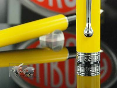 Aurora Talentum Young Fountain Pen  - Yellow Resin and Chrome - D14Y, M