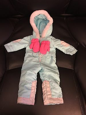 American Girl  Doll Light Blue Ski Snow Suit Outfit