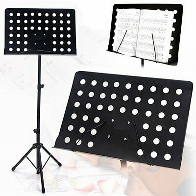 NEW Heavy Duty Professional Adjustable Stage Music Sheet Stand,Large Page Holder