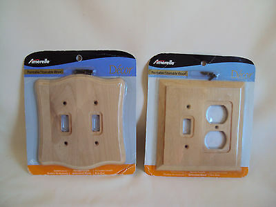 Vintage Wood Switch Covers Set Of Two