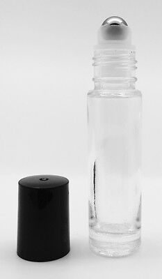 10ml Clear Glass Bottle with Metal Roller - Choose Your Quanity