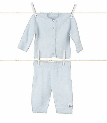 Little Giraffe Dolce Snuggle Pant And Sweater - Blue