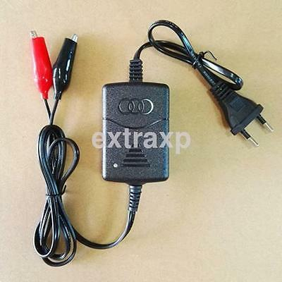 Motorcycle Sealed Lead Acid Rechargeable Battery Charger 12V EU Plug For Car New
