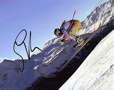 LINDSEY VONN Signed Autographed 8x10 Photo, Alpine Skiing, Downhill