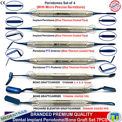 X7 Dental Bone Grafting Periotomes Titanium-Coated Graft Carrier Implant Surgery