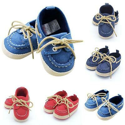 Toddler Sneaker Boy Girl Soft Sole Crib Shoes Lace Baby Shoes Prewalker 0-18M