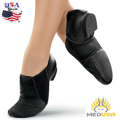 Cowhide Leather Jazz dance shoes Slip-On (Irish Ballet Dance like Capezio Bloch)