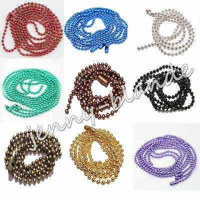 "Wholesale Lot 28"" Ball Chain Necklace 2.0mm Bead Chain Jewelry Finding Craft DIY"