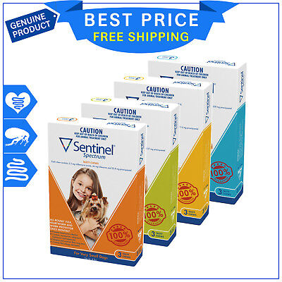 Sentinel Spectrum Flea and Heartworm treatment for Dogs 3 Chews All Sizes