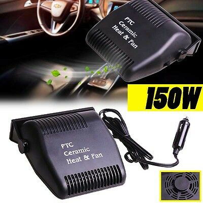 Portable Car Auto Ceramic Heating Cooling Fan Heater Defroster Demister 12V 150W