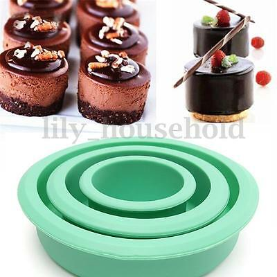 3PCS Runde Silikon Kuchenform Backform Form Backen Silikonbackform Set NEU
