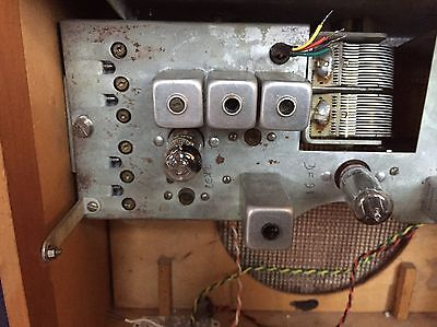 Vintage Radio Valves And Control Panel