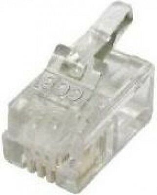 Titan Crimp Style RJ22 4P/4C Telephone Plugs Modular Plug Connector