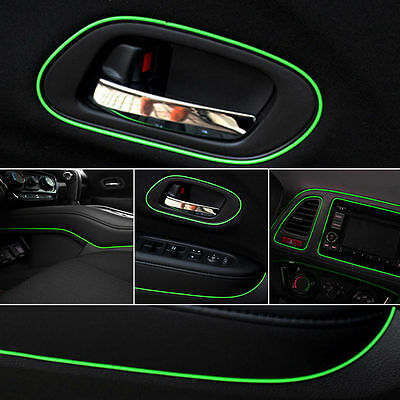 Green 5m Point Edge Gap Line Auto Car Interior Accessories Molding Decal 3t