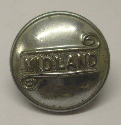 """Midland Buses 1"""" Dia Uniform Single Button Used Condition As Shown In The Photo"""