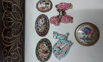 lot broche pendentil vintage ancien collection
