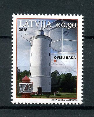 Latvia 2016 MNH Ovisi Lighthouse 1v Set Lighthouses Buildings Stamps